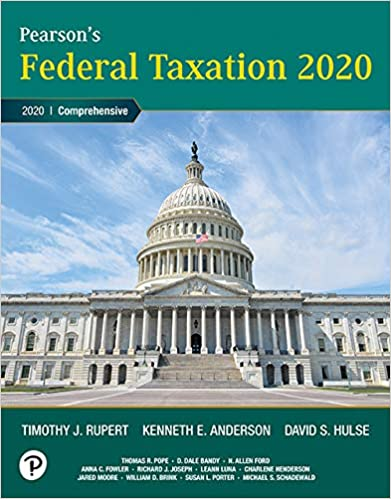 Federal Taxation 2020 Comprehensive