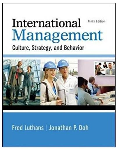 International Management Culture, Strategy, and Behavior