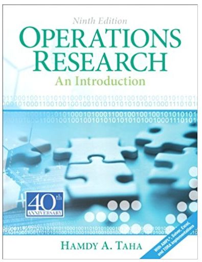 Operations Research An Introduction