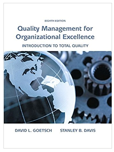 Quality Management for Organizational Excellence Introduction to Total Quality