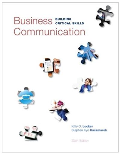 Business Communication Building Critical Skills