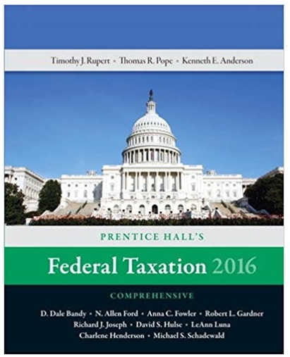 Federal Taxation 2016 Comprehensive