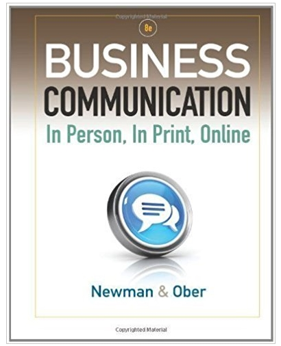 Business Communication In Person, In Print, Online