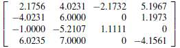 Factor the following matrices into the LU decomposition using the