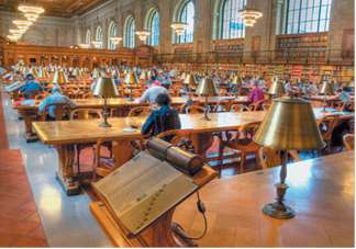 There is a total of 1525 public libraries in New