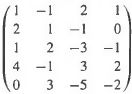 Write out a P A = LU factorization for each