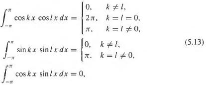 Prove the trigonometric integral identities (5.13).