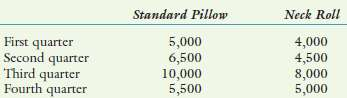 Sleepeze Company produces a variety of pillows for catalog sales