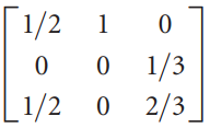1/2 0 1/3 O 2/3. 1/2