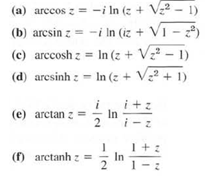 By definition, the inverse sine w = arc sin z
