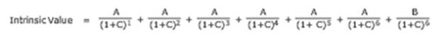 Intrinsic Value- в (1+C)³ * (1+C% * (1+ C)$ * (1+C)% * (1+C)% (1+C) * (1+C)?
