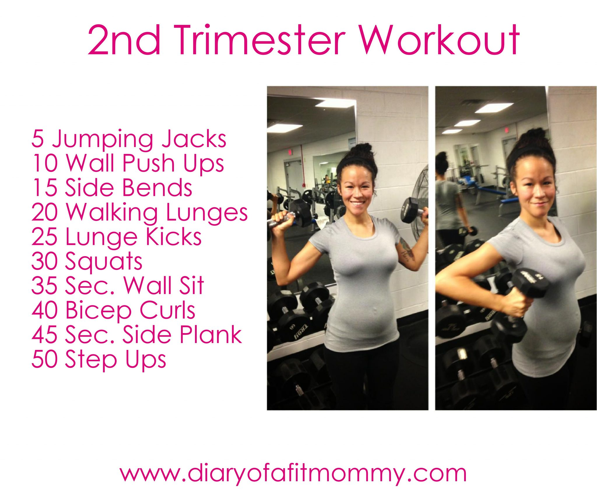 Second Trimester At Home Workouts Diary Of A Fit Mommy