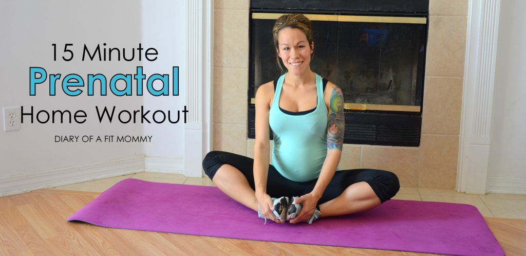 15 Minute Prenatal At Home Yoga Workout - Diary of a Fit Mommy