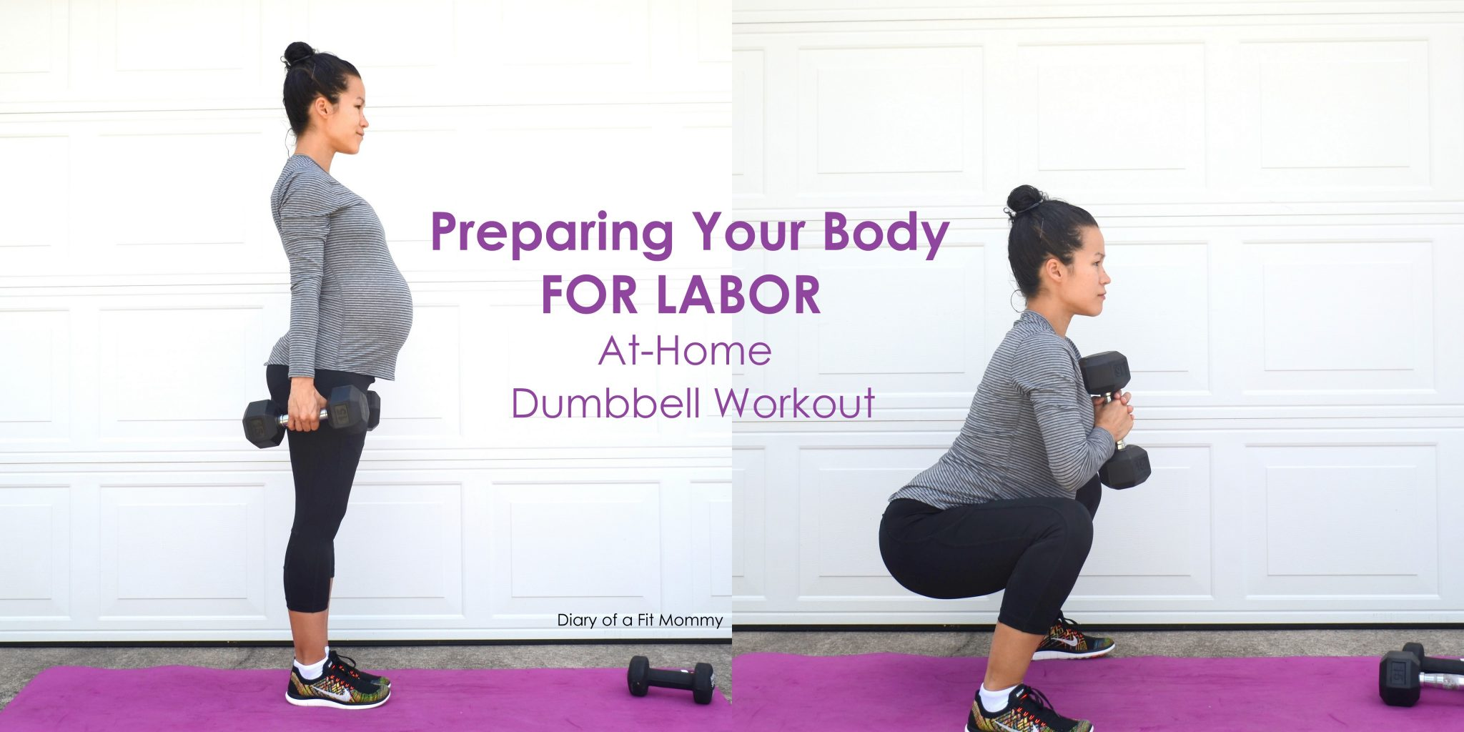 Preparing for Labor: At Home Dumbbell Workout - Diary of a Fit Mommy