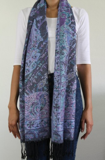 Traditional Blue Cashmere Wrap