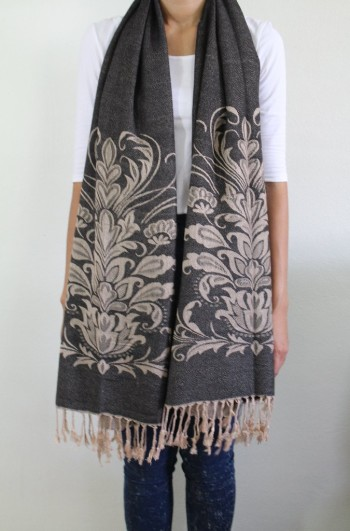 dark tan cashmere scarf for women