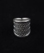 Traditional Woven Silver Statement Rings