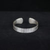 Sterling Silver Etched Tribal Motif Bangle