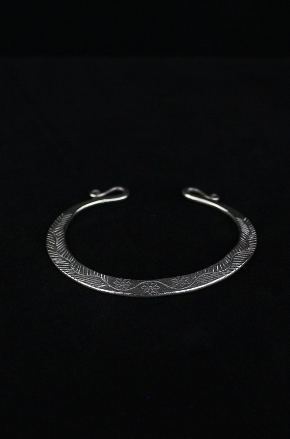 Sterling Silver Flattened Bangle