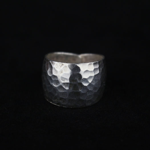 Hammered Silver Artisan Ring