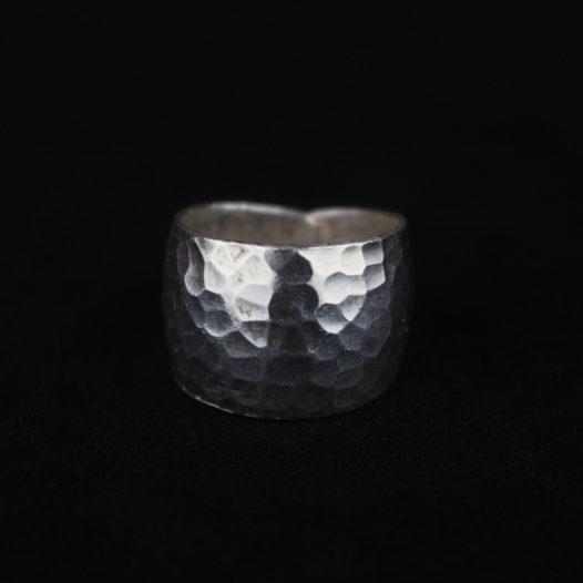 Hammered Silver Artisan Ring