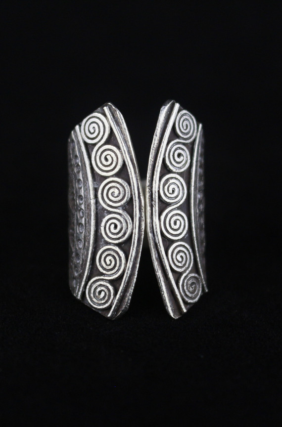 Tribal Silver Spiral Artisan Ring