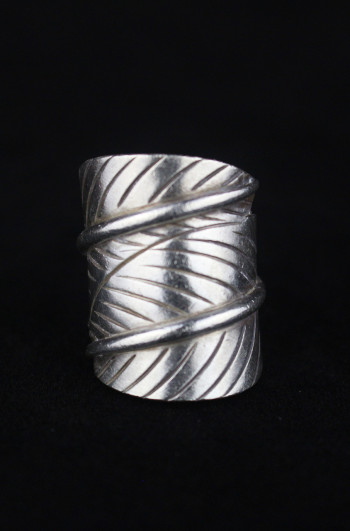 Artisan Silver Leaf Wrap Ring