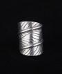 Artisan Silver Leaf Wrap Ring