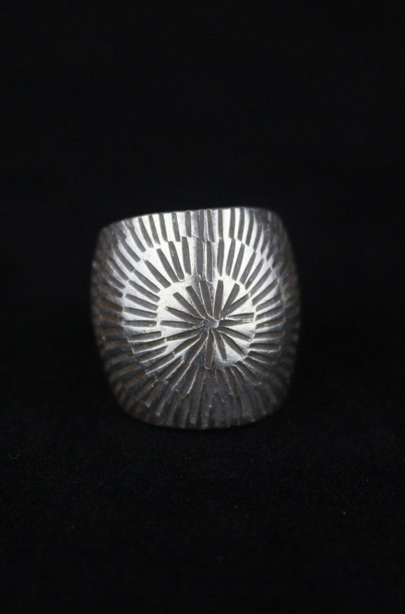 Tribal Sunrise Silver Artisan Ring