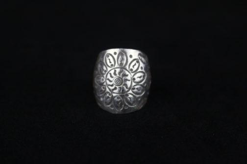 Silver Sunflower Artisan Ring