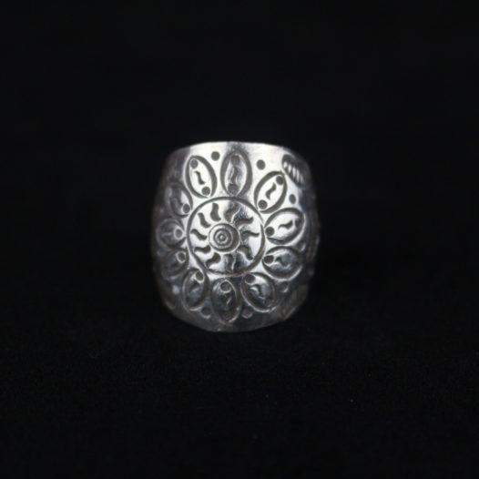 Silver Sunflower Artisan Ring