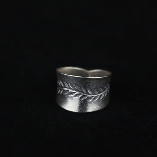 Hill Tribe Floral Motif Silver Ring