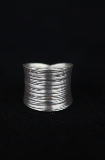 Silver Groove Artisan Ring - Adjustable Size