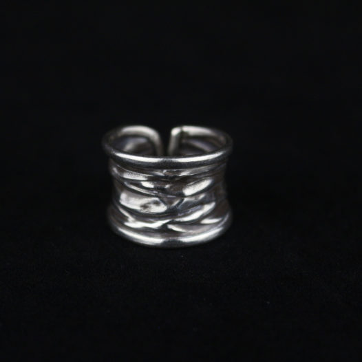 Free Form Hill Tribe Silver Ring