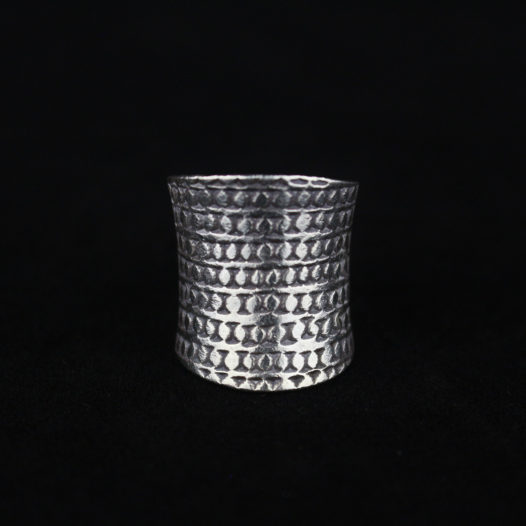 Fine Silver Artisan Groove Ring