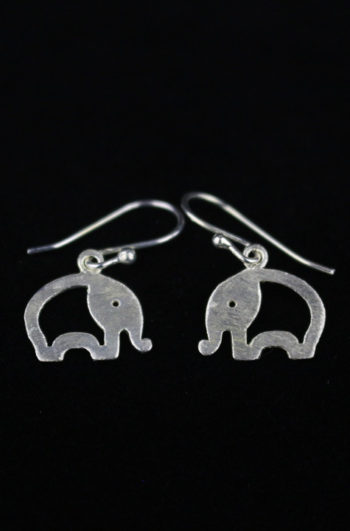 Silver Elephant Earrings for Women