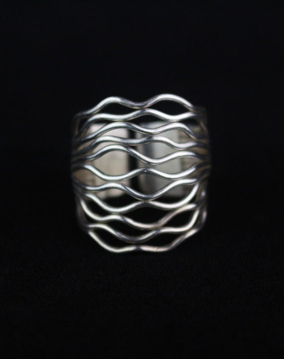 Handmade silver ring for women