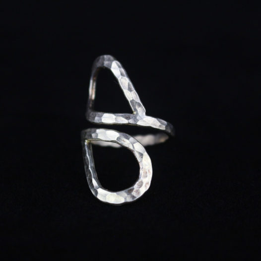 Silver heart ring for women