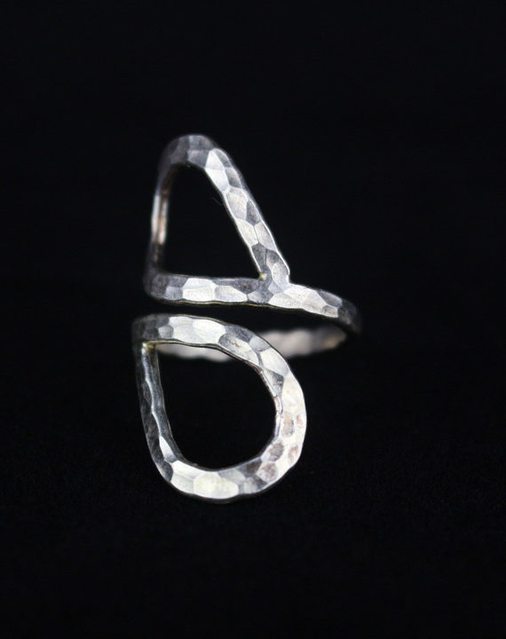 Silver heart ring for women