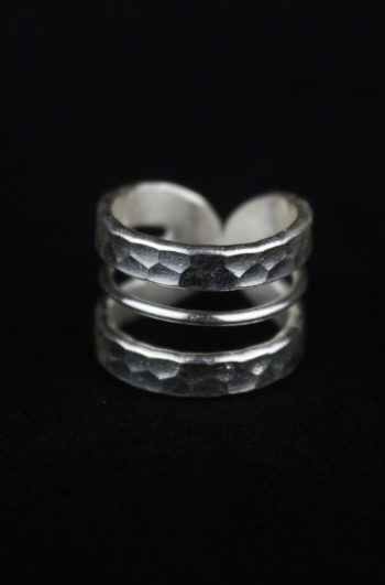 Womens' unique silver ring