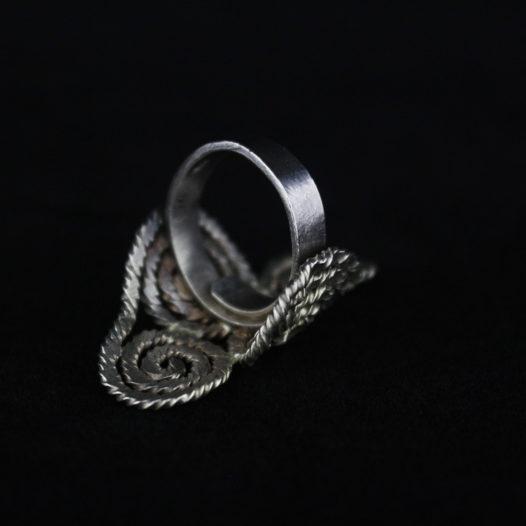 Handmade Silver Spiral Statement Ring