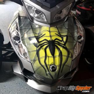 BRP Can-am Spyder full frunk wrap spidy-on-web-Yellow