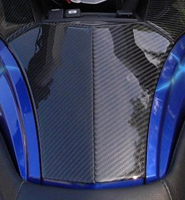 Real Carbon Fiber Spyder RT 3 piece glove box
