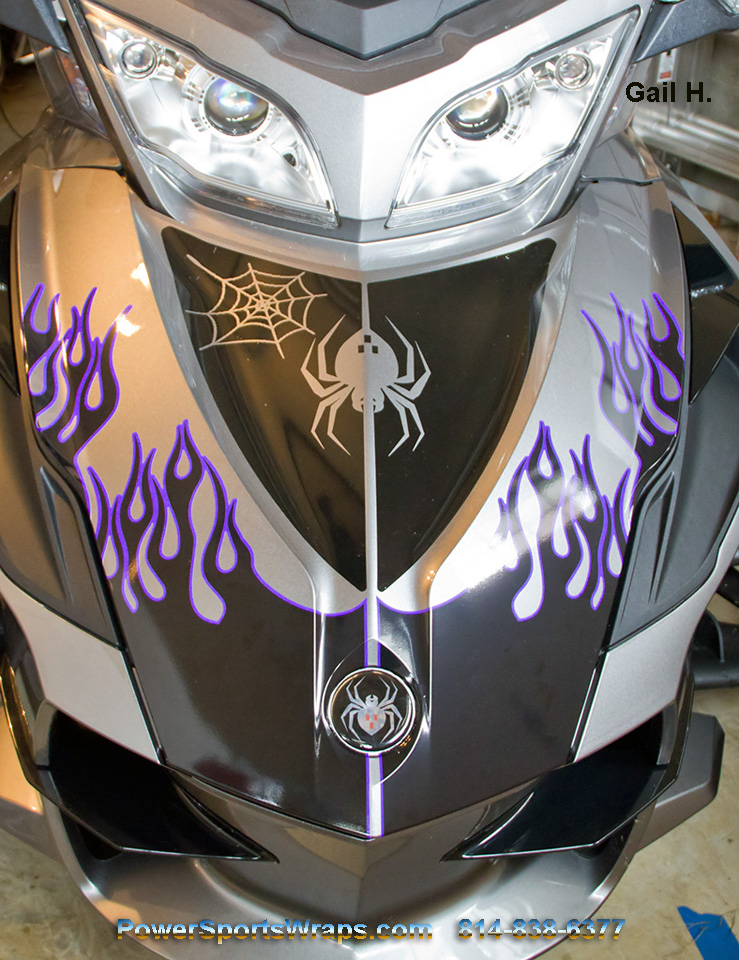Best Flame Black with Purple outline
