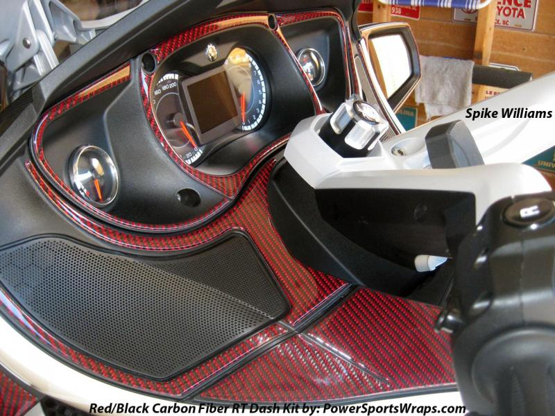 Red Black Real Carbon Fiber Dash Kit for Spyders