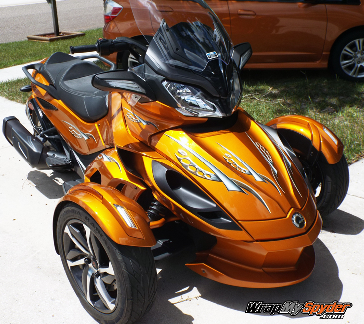 Cosmos Orange tone Spyder ST graphics kit