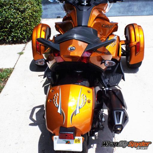 Cosmos Orange tone Spyder ST rear fender