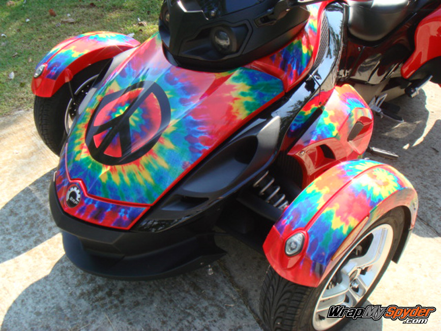 Tie Dye wrap kit for Can am Spyder RS