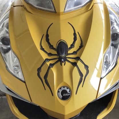BRP Can-am Spyder Yellow Black Bellerdine spider decal