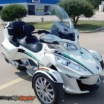 can am spyder break-stripe-green-black
